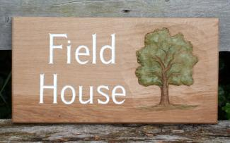 Field House Handmade Wooden Sign