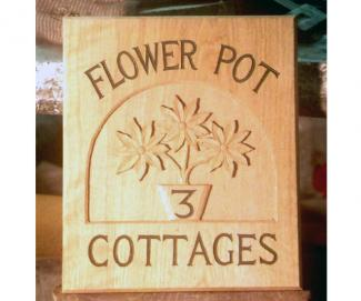 Flower Pot Cottages Handmade Wooden Sign