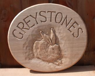 Greystones Handmade Wooden Sign