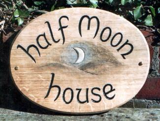 Half moon Handmade Wooden Sign