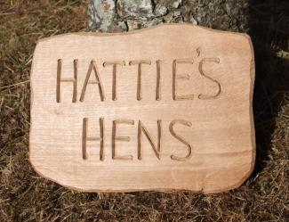 Hatties Hens Handmade Wooden Sign