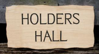 Holders Hall Handmade Wooden Sign