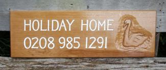 Holiday Home Handmade Wooden Sign