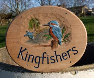 Kingfishers Handmade Wooden Sign