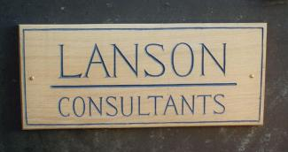 Lanson Handmade Wooden Sign