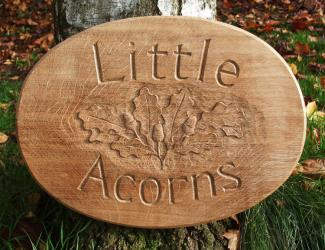 Little Acorns Handmade Wooden Sign