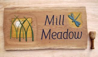 Mill Meadow Handmade Wooden Sign