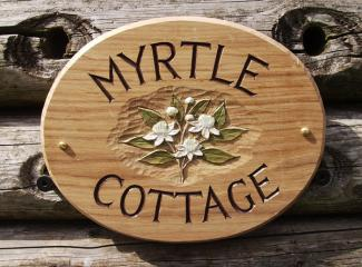 Myrtle Cottage Handmade Wooden Sign