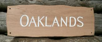 Oaklands Handmade Wooden Sign