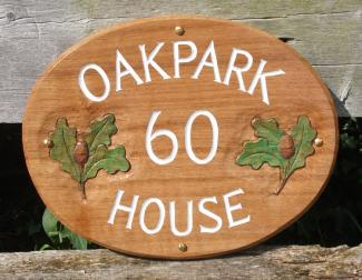 Oakpark Handmade Wooden Sign