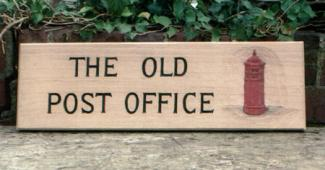 Old Post Office Handmade Wooden Sign