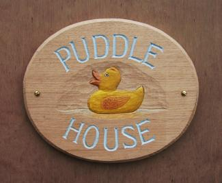 Puddle House Handmade Wooden Sign