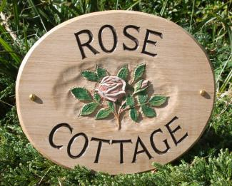 Rose Cottage Handmade Wooden Sign