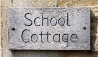 School Cottage Handmade Wooden Sign