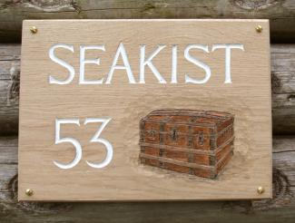 Seakist Handmade Wooden Sign
