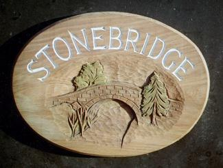 Stonebridge Handmade Wooden Sign
