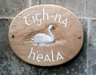 Swan Sign Handmade Wooden Sign