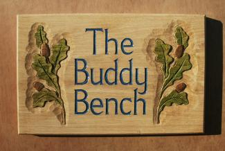 Buddy Bench Handmade Wooden Sign