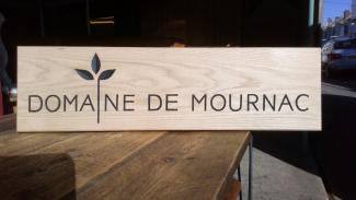 Wooden sign - Domaine de Mournac